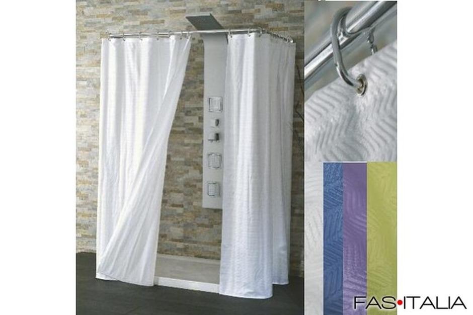 Tende Da Doccia In Lino : Tenda doccia in tessuto cm
