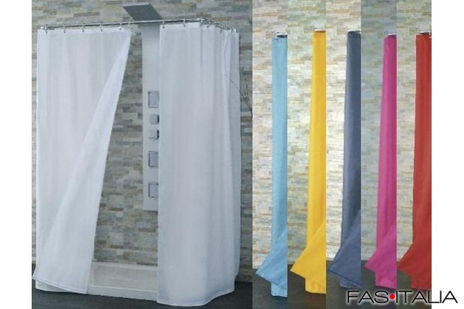 Tende In Tessuto Per Doccia : Tenda doccia in tessuto tinta unita cm