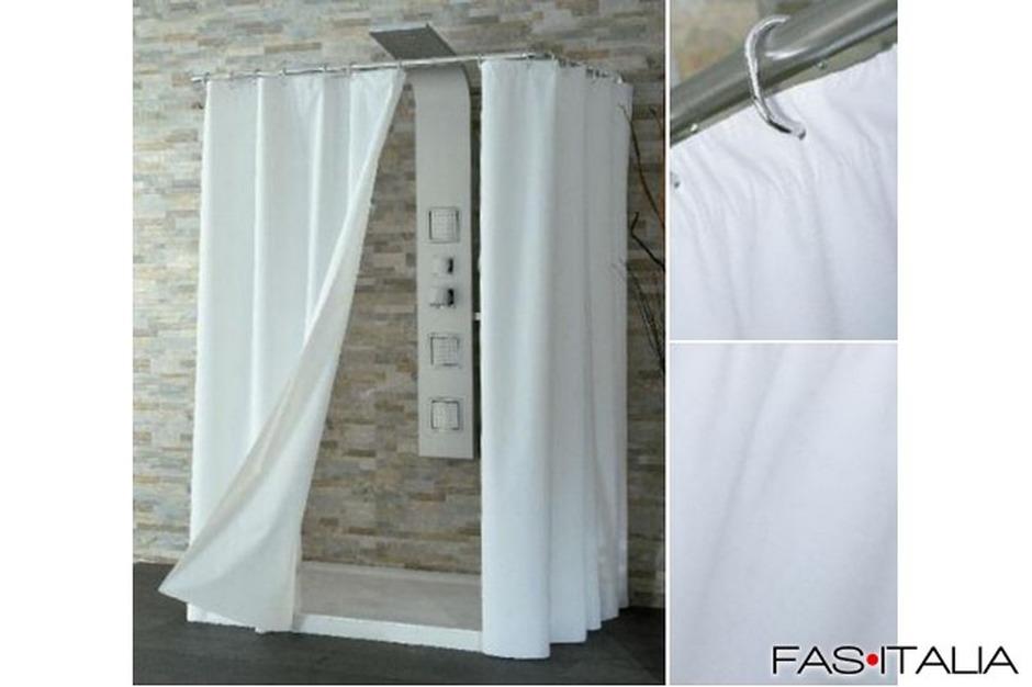 Tende Da Doccia Design : Tenda doccia in vinile bianca 120x200 cm