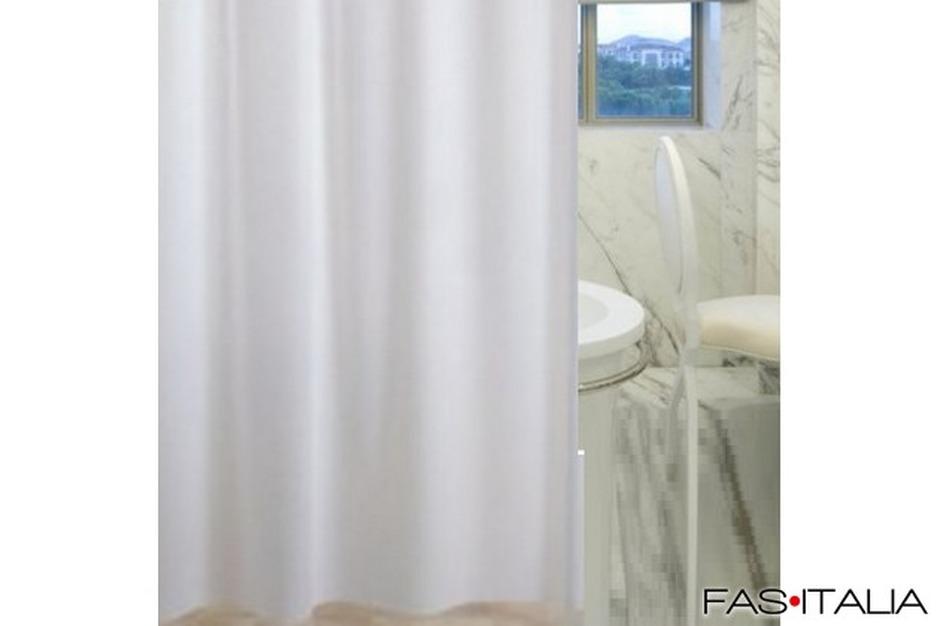 Tenda doccia dolphin in vinile bianca cm