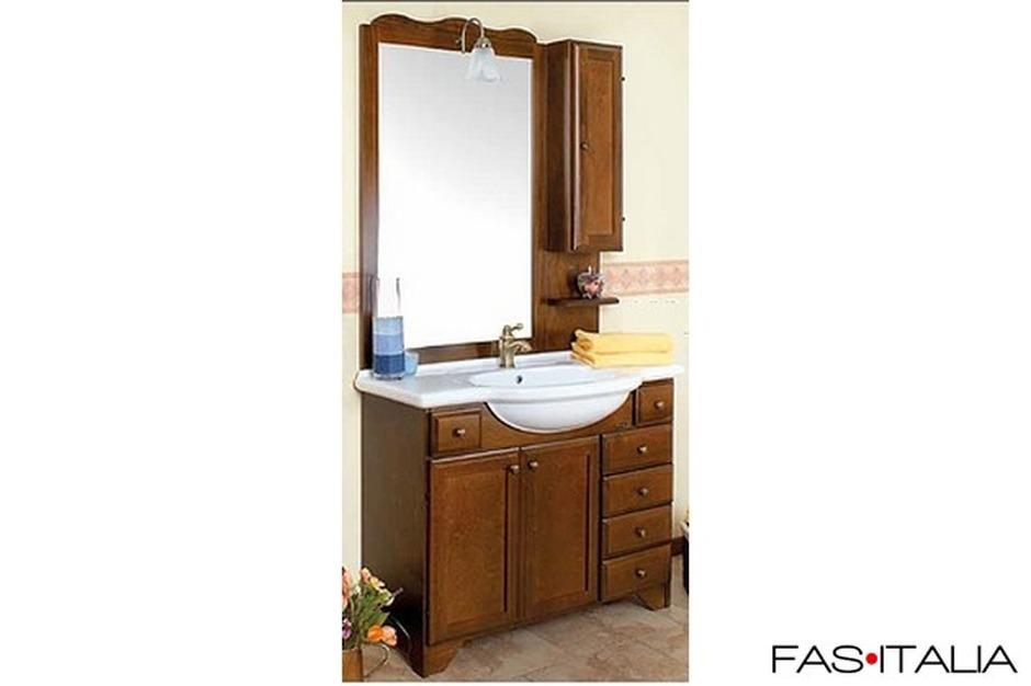 Mobile da bagno classico noce ciliegio - Mobile da bagno classico ...