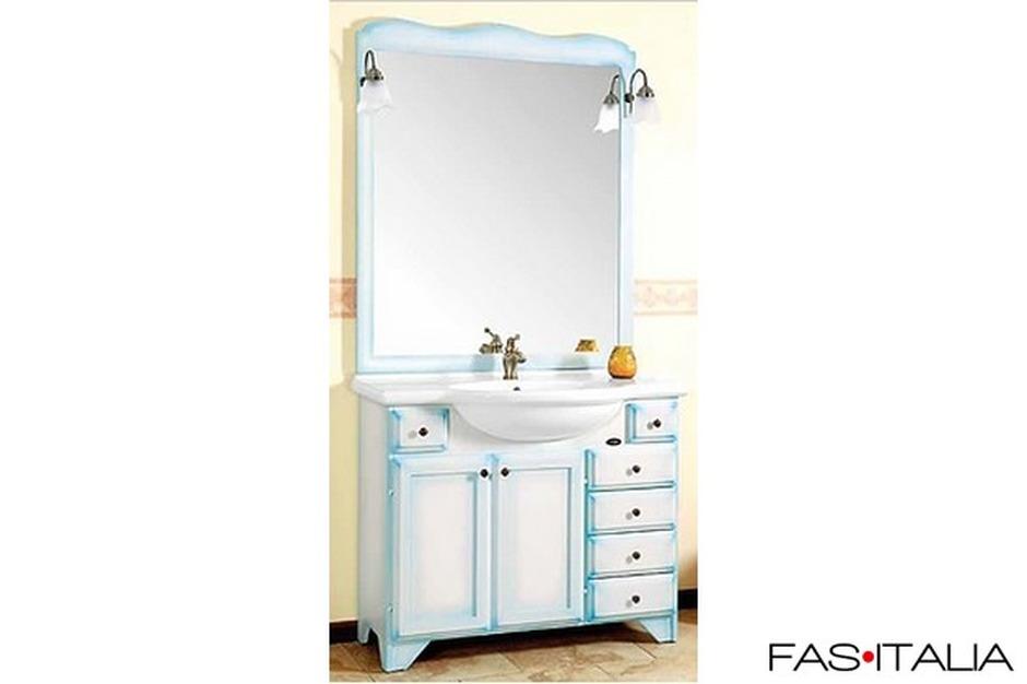 Mobile da bagno classico patinato blu for Mobile bagno blu