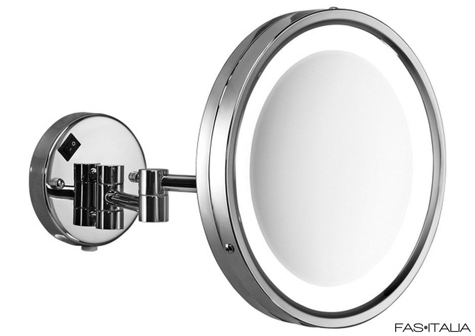 Specchi Ingranditori Per Bagno Con Luce.Specchio Ingranditore 5x Acciaio Inox Con Luce